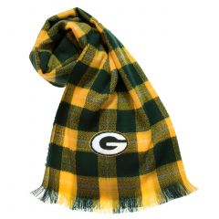 Packers Women's Plaid Blanket Scarf
