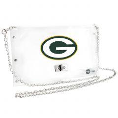 Green Bay Packers Clear Envelope Handbag