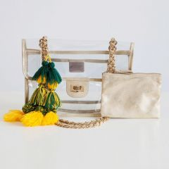 Packers Evie Gold Chain Clear Bag