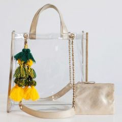 Packers Emilia Gold Clear Tote Bag