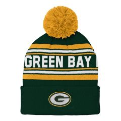 Packers Youth Jacquard Cuff Knit Hat