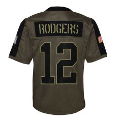 Youth 2021 Salute to Service #12 Rodgers Jersey