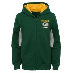 Packers Youth Stay Warm Full Zip Hoodie