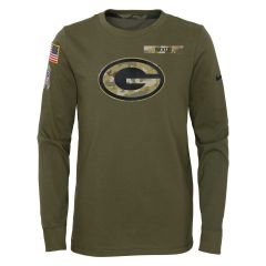 Packers Youth 2021 Salute to Service Dry T-Shirt