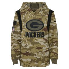 Packers Youth 2021 Salute to Service Therma Hoodie