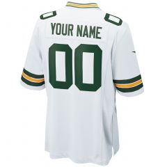 Green Bay Packers Youth Custom Away Game Jersey