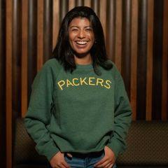 Packers 50s Classic Women's Wordmark Fleece Crew