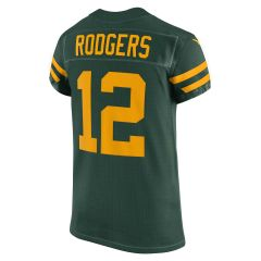 Packers 50s Classic #12 Rodgers Elite Jersey