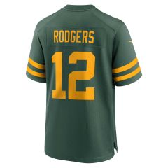 Packers 50s Classic #12 Rodgers Game Jersey