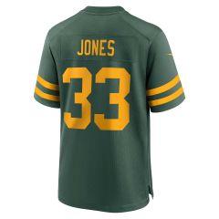 Packers 50s Classic #33 Jones Game Jersey