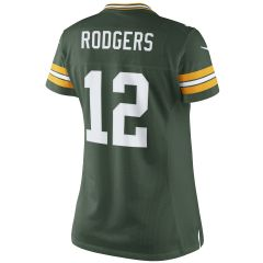 #12 Aaron Rodgers Home Women's Limited Jersey