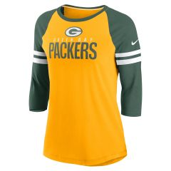 Packers Women's Sleeve Stripe 3/4 T-Shirt