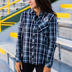 Packers Women's Erin Andrews Plaid Flannel Shirt