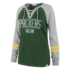 Packers Womens 47 Stamp Fade Lace Up Top