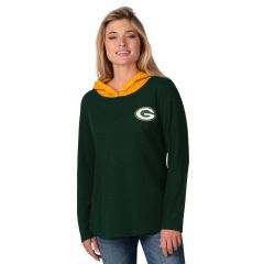 Packers Women's Passing Play Hooded T-Shirt
