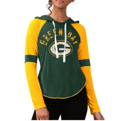 Packers Women's Yard Line Hooded T-Shirt