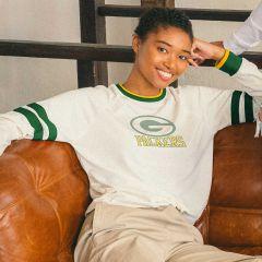 Packers Women's Football Stripe T-Shirt