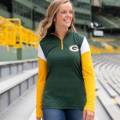 Packers Women's Block Party 1/4 Zip Pullover