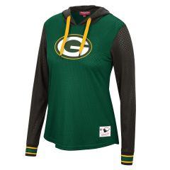 Packers Women's Mesh Hooded Top