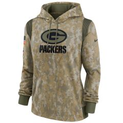 Packers 2021 Salute to Service Women's Therma Hood