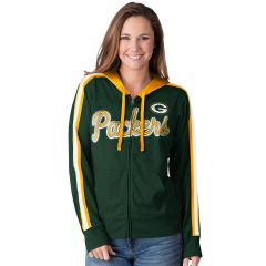 Packers Women's Mesh Full Zip Hoodie