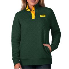 Packers Women's Face Off Quilted Knit Pullover