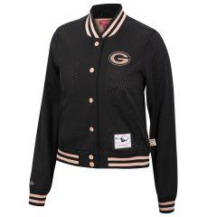 Packers Women's Frontline Mesh Snap Front Jacket