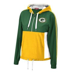 Packers Women's Color-Blocked 1/4 Zip Windbreaker