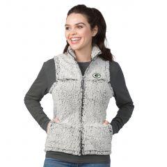 Packers Women's Sherpa Full Zip Vest