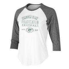 Packers Women's Crescent 3/4 Sleeve T-Shirt