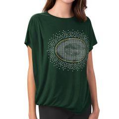 Packers Women's MSX Olivia Drape Front T-Shirt