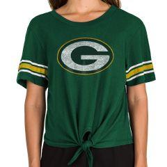 Packers Women's Scoop Tie Front T-Shirt