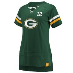 Packers Women's #12 Rodgers Athena Icon Jersey Top