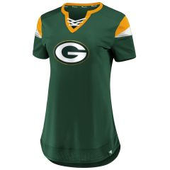 Packers Women's #12 Rodgers Athena Jersey Top
