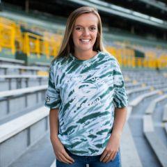 Packers Women's Erin Andrews Tie-Dye Crop T-Shirt