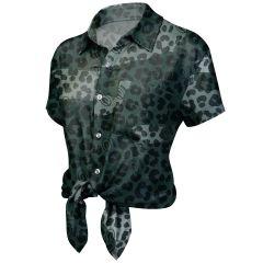 Packers Women's Cheetah Print Shirt
