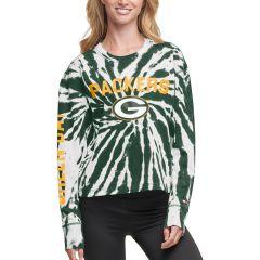 Packers Women's Tommy Hilfiger Tie Dye Crew