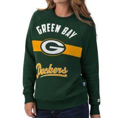 Packers Women's Set Back Crewneck Sweatshirt