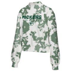Packers Women's Cropped Tie-Dye Fleece Pullover