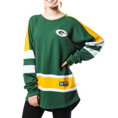 Packers Women's Backfield French Terry Crew