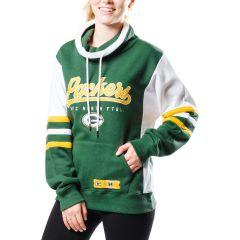 Packers Women's Long Pass Cowl Neck Fleece