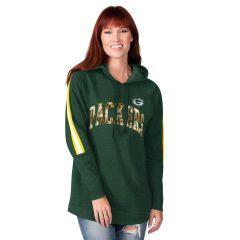 Packers Women's Double Team Tunic PO Hoodie
