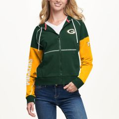 Packers Women's Tommy Hilfiger Color-Blocked Hood