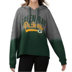 Packers Womens Superstar Dip-Dyed Cropped Pullover