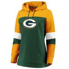 Packers Women's Color-Blocked PO Hoodie