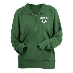 Packers Women's  Bi-Blend 1/4 Zip Fleece Pullover