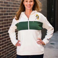 Packers Women's Logo Historic 1/2 Zip Hoodie