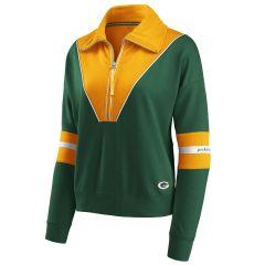 Packers Women's Erin Andrews CB 1/4 Zip Fleece