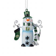Lambeau Field Tin Snowman Bell Ornament