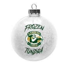 Lambeau Field Glass Snow Ball Ornament
